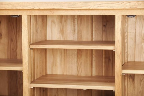 Suffolk Solid Oak Large TV Unit with 2 Doors   Fully Assembled