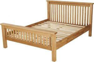 Suffolk Solid Oak 5′ King Size HFE Bed
