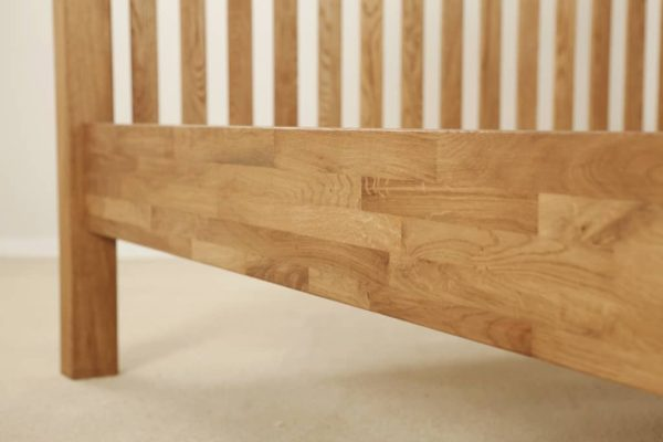 Suffolk Solid Oak 4'6″ Double High Foot End Bed