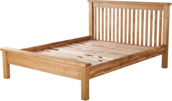 Suffolk Solid Oak 4'6″ Double Low Foot End Bed