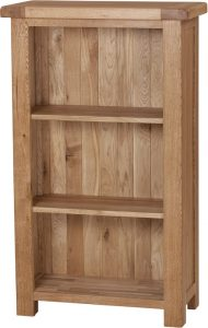 Suffolk Solid Oak 3′ Narrow Bookcase with 3 Adjustable shelves | Fully Assembled