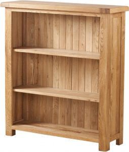 Suffolk Solid Oak 3′ Wide Bookcase with 3 Adjustable shelves | Fully Assembled