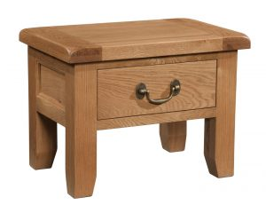 Somerset Waxed Oak Side Table with Drawer | Fully Assembled