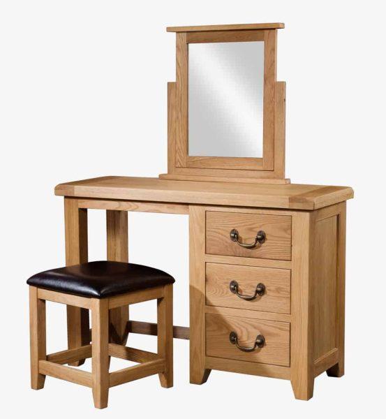 Somerset Waxed Oak Dressing Table Mirror