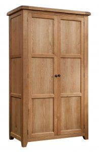 Somerset Waxed Oak 2 Door Double Wardrobe