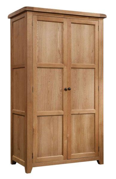 Somerset Waxed Oak 2 Door Double Wardrobe