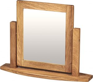Suffolk Solid Oak Single Dressing Table Mirror