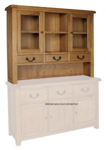 Somerset Waxed Oak Large Dresser (Top Only) | Fully Assembled