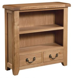 Somerset Waxed Oak 900mm x 900mm Bookcase | Fully Assembled