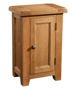 Somerset Waxed Oak 1 Door Sideboard | Fully Assembled