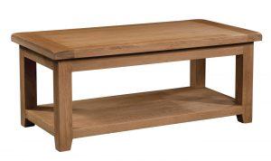 Somerset Waxed Oak 120cm Large Coffee Table