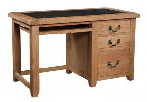 Somerset Waxed Oak Office Desk   Fully Assembled