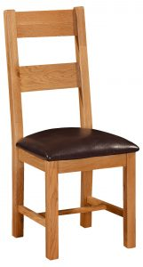 Somerset Waxed Oak Ladder Back Dining Chair (Pair)