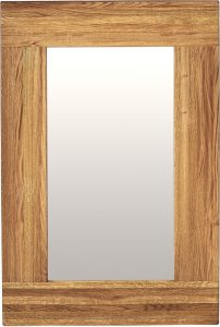 Suffolk Solid Oak Wall Mirror 900X600 | Fully Assembled