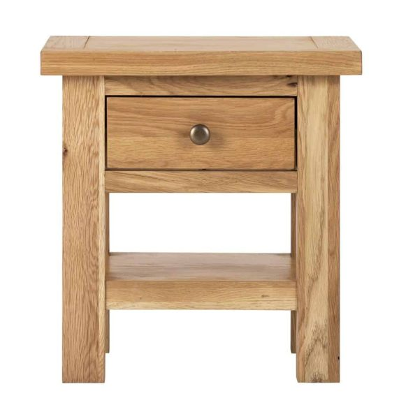Besp-Oak Vancouver Compact Side Table with 1 Drawer | Fully Assembled
