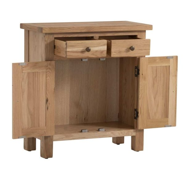 Besp-Oak Vancouver Compact Extra Small Sideboard 2 Doors 2 Drawers | Fully Assembled