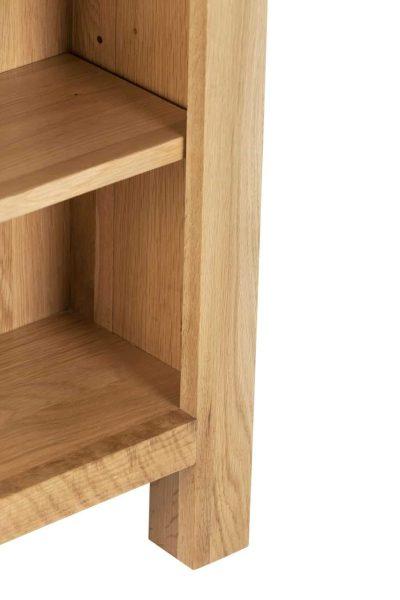 Besp-Oak Vancouver Compact Low Bookcase 3 Adjustable Shelves | Fully Assembled