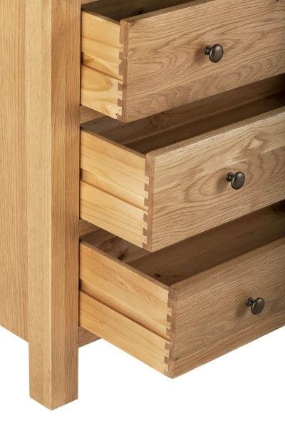 Besp-Oak Vancouver Compact 2 over 3 Drawer Chest | Fully Assembled