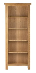 Besp-Oak Vancouver Compact Tall Bookcase with 5 Adjustable Shelves | Fully Assembled