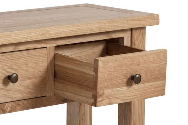 Besp-Oak Vancouver Compact 2 Drawer Console Hall Table