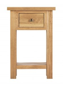Besp-Oak Vancouver Compact 1 Drawer Console Hall Table