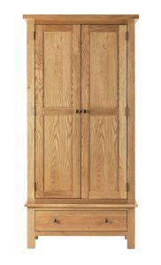 Besp-Oak Vancouver Compact Double Wardrobe with 1 Drawer