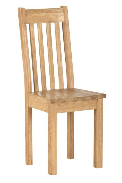 Besp-Oak Vancouver Compact Dining Chair with Timber seat – Pair   Fully Assembled