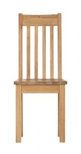 Besp-Oak Vancouver Compact Dining Chair with Timber seat – Pair | Fully Assembled