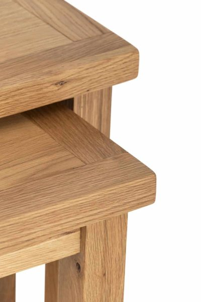 Besp-Oak Vancouver Compact Nest of 2 Tables   Fully Assembled