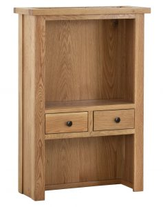 Besp-Oak Vancouver Compact 2 Drawer Hutch (Top Only) | Fully Assembled