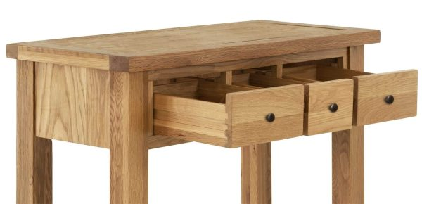 Besp-Oak Vancouver Compact Dressing Table with 3 Drawers