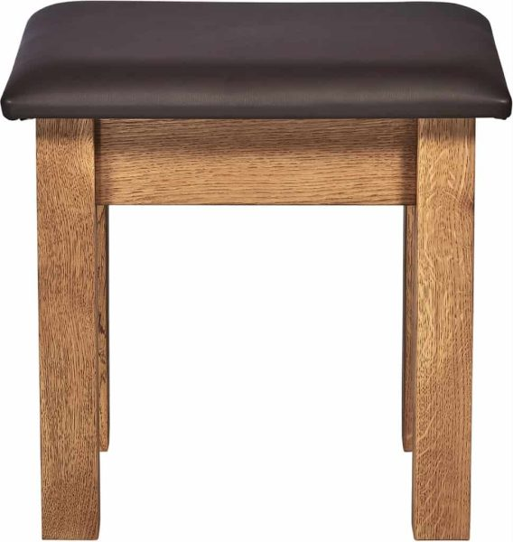 Suffolk Solid Oak Dressing Table Stool