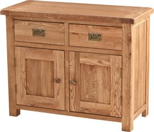 Suffolk Solid Oak 3′ Sideboard with 2 Drawers 2 Doors | Fully Assembled