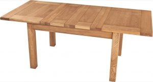 Suffolk Solid Oak 4'6″ Extending Dining Table (2 Leaf)