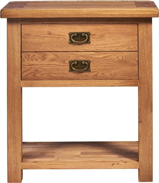 Suffolk Solid Oak 1 Drawer Console Hall Table