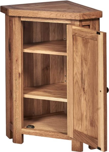 Suffolk Solid Oak Corner Cupboard with cupboard | Fully Assembled