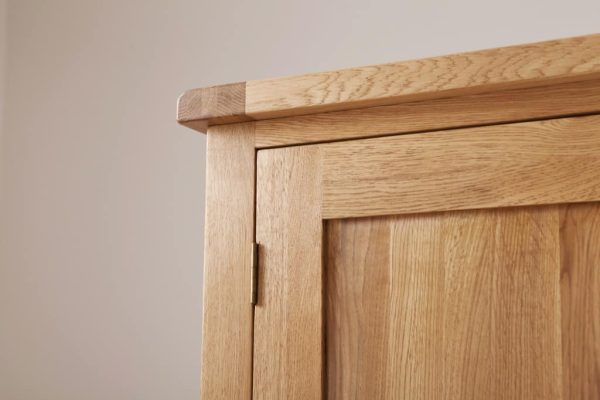 Suffolk Solid Oak Double 2 Door Wardrobe
