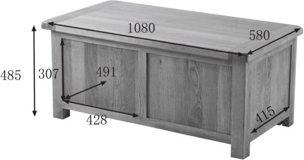 Country Rustic Oak Blanket Box | Fully Assembled