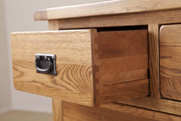 Country Rustic Oak 2 over 3 Drawer Chest