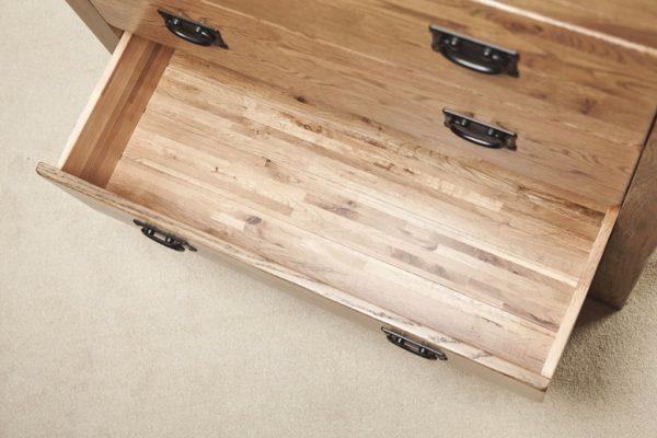 Country Rustic Oak 2 over 4 Drawer Chest