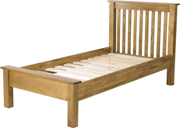 Country Rustic Oak 3′ Single LFE Bed