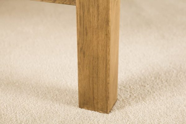 Country Rustic Oak 4'6″ Double High Foot End Bed