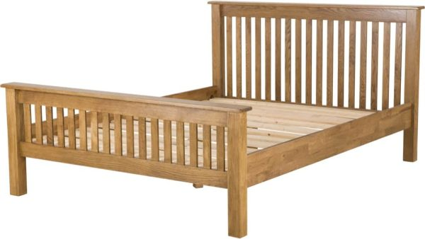 Country Rustic Oak 5′ King Size HFE Bed