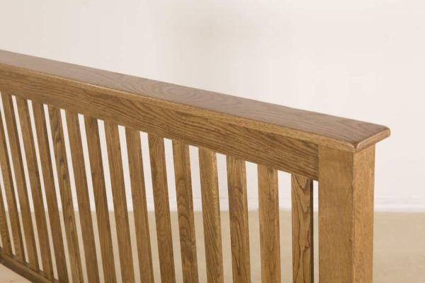 Country Rustic Oak 5′ King Size Low Foot End Bed