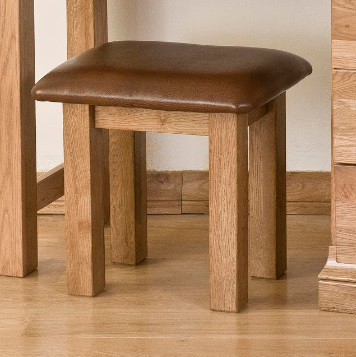 Normandy French Solid Oak Dressing Table Stool