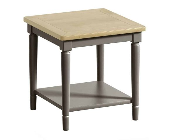 Classic Harmony Painted Pewter Lamp Table