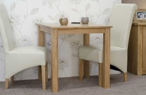 Elegance Oak Small Fixed Top Dining Table