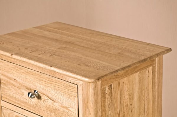 Cambridge Solid Oak 5 Drawer Wellington Chest | Fully Assembled