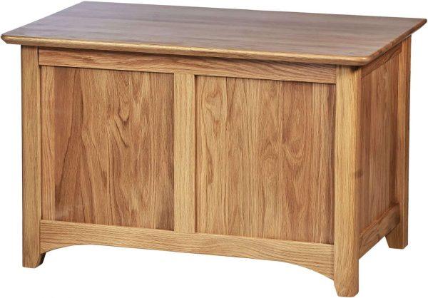 Cambridge Solid Oak Small Blanket Box | Fully Assembled