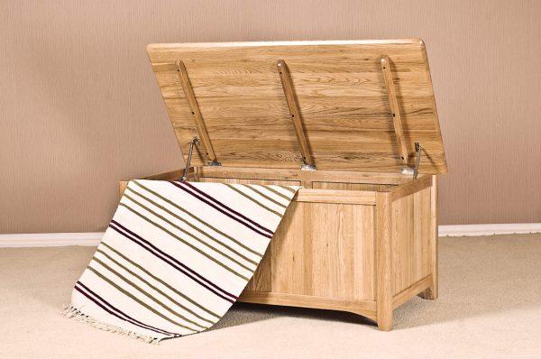 Cambridge Solid Oak Blanket Box | Fully Assembled
